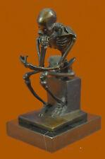 Abstract Modern Art Mini Skeleton by Milo Bronze Sculpture Marble Statue Decor