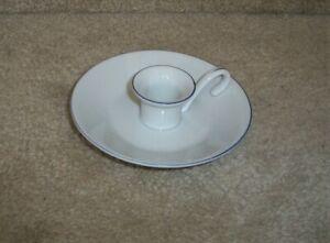 white ceramic candle holder