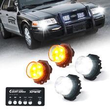 Xprite 4 Pack Led Strobe Lights Kit Whiteamber Hide A Way Emergency Warning