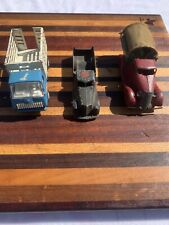 Vintage Trio Of Toy Trucks Tonka Tootsie Toy And Unmarked pressed steel toy
