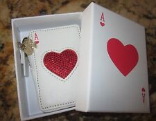 Kate Spade Place Your Bets Card Deck Coin Purse Card Holder- Red Ace of Hearts