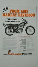 Prospectus Catalogue Brochure Moto HARLEY DAVIDSON SS-125/SS-250/175 1975