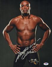 ANDERSON SILVA SIGNED AUTO'D 11X14 PHOTO PSA/DNA COA AC29500 UFC 200 SPIDER
