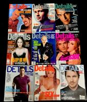 DETAILS MAGAZINE - LOT OF 9 - GREAT COVERS & PHOTOS - 1995-2000 New