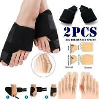 2PCS Big Toe Bunion Splint Straightener Corrector Foot Pain Relief Hallux Valgus
