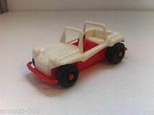 CGGC (Italie) - Dune Buggy 8 Cm en plastique - Blanc & rouge - Vintage