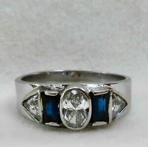 Modernist Engagement Wedding Bezel Set Ring 14K White Gold 1.99 Ct VVS1 Diamond