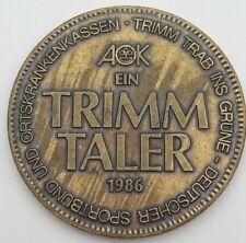 Jetons & Médailles, Allemagne, Ein Trimm Taler, Politics, Society, War 1986