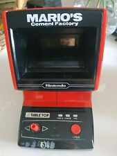 Nintendo Game & Watch Table Top Mario's Cement Factory - Fonctionnel - 1983