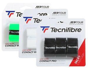 Tecnifibre CONTACT PRO Tennis Racket Overgrips - 3 Pack - 0.6mm - Squash