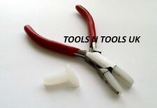 QUALITY FLAT NOSE NYLON JAW PLIERS JEWELRY BEAD WIRE WORK TOOL WITH EXTRA JAWS