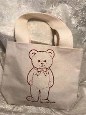 Small Teddy Bear Canvas Bag