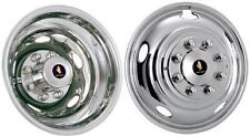 "17"" Dodge Ram 3500 Dually Wheel Simulators Hubcaps 2003-2017 bolt on stainless"