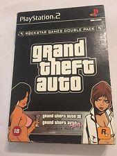 GTA Twinpack PAL Sony Playstation 2 Jeux PS2 Grand Theft auto III + Vice City