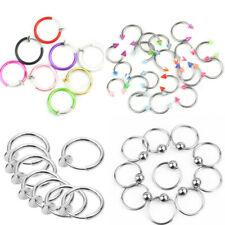 Nose Lip Belly Ring Fancy Dres Mxa Clip On Fake Piercings 8 Color Rings Ear