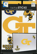 "GEORGIA TECH GT Laptop Sticks Decals 6"" & smaller peel n stick"