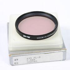 B & W 49 mm 49ES Cámara Lente Filtro FL-D corrección de color (A164)