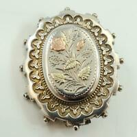 Sweetheart Brooch Antique Silver, Rose and Yellow Gold Circa 1870 - 80s