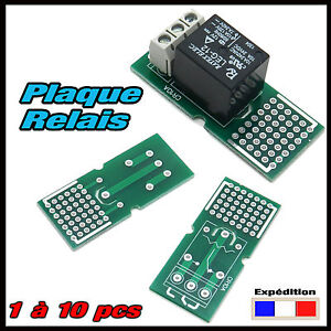 CR10A# plaque essais pour relais 1RT 10A de 1 à 10pcs  (PCB board relay)