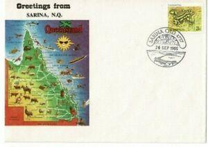 Stamp 1985 Australia 3c frog Sarina North Queensland tourist cover & postmark