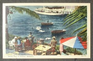 BAHAMAS # NASSAU POST CARD to US 1954
