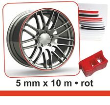 Bandes déco Wheel-Stripes pour les jantes de la voiture rouge 5 mm x 10 m