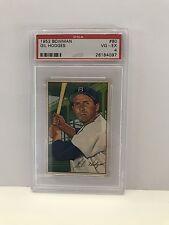 1952 Bowman Gill Hodges Card #80 PSA Graded 4 VG-EX