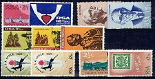 South Africa 1968 to 1969 Year sets of  Commemorative stamps unhinged