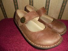 ALEGRIA PAL-682 BROWN LEATHER MARY JANE SHOES SIZE 37  US 7