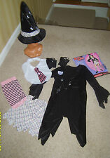 Girls Childs Charm School WITCH Halloween Fancy Dress Costume Small Age 3-5 Yrs