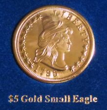 1795 SMALL EAGLE/LIBERTy $5 GOLD-CLAD COIN One of America's Most Beautiful Coin