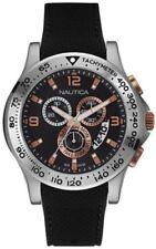 Nautica NAD19504G 59 Chrono Analog Display Japanese Quartz Black Watch $195