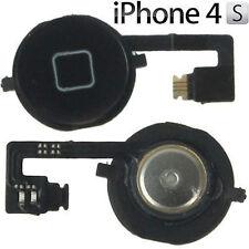 Kit Tasto Home + flat flex per Apple iphone 4S Cursore Centrale Funzione Nero