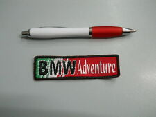patch BMW ADVENTURE embroidery ITALY embroidered thermoadhesive 12x3 cm