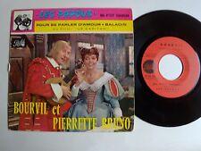 """BOURVIL & PIERRETTE BRUNO : Les papous / B.O. film LE CAPITAN 7"""" EP PATHE EG 523"""