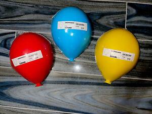 Lot of 3 IKEA DrommingeBalloon Wall Lamp Lights-Yellow,Red & Blue 17796