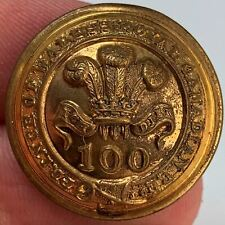 More details for victorian 100th regiment of foot royal canadian officers tunic button 25mm qf08