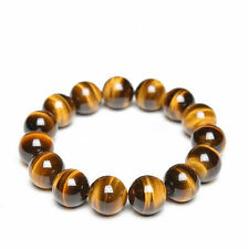 14mm Tiger Eye Beads.100%Natural.Yellow/Red. Men & Women. Grounding & Protection