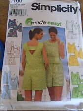 "7700  N  PATRON ""SIMPLICITY    5 VERSIONS BLOUSE SHORT  38 AU 42"