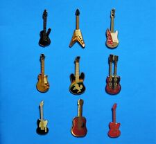 GUITAR - MUSIC INSTRUMENT - UNICORN - IBANEZ ICEMAN - 9 VINTAGE LAPEL PIN LOT