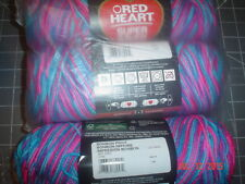 3 Skeins of Red Heart Super Saver Worsted Weight Yarn in Bon Bon  #0784