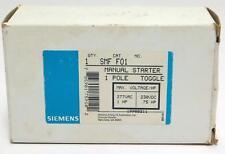 Siemens Manual Starter SMF F01 1 Pole Toggle 277 VAC 1hp 230 VDC .75hp NOS NIB