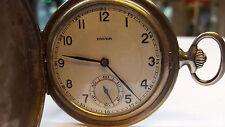 AntikeTaschenuhr Favor Silbertaschenuhr 900er Silber Uhr Sprungdeckel Bergbau