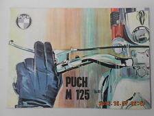 puch m 125  . catalogue publicitaire  . advertising catalog
