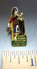 Alaska Scottish Highland Games 1987, beautiful and hard to find Lapel Pin