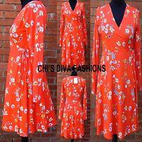 ASOS Floral Tie Side Jersey Wrap Dress Sizes 8, 10 12, 14, 16,18, 20 Mini Length