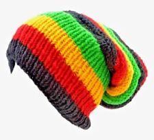NEPALESE 100% WOOLLEN HAND MADE RASTRA BEANIE WOOL HAT WINTER WARMER