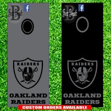 Oakland Raiders Corn hole Board Decal Set of 6 Vinyl cornhole decals stickers