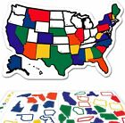 """RV State Sticker Travel Map - 13"""" x 17"""" - USA States Visited Decal - United"""