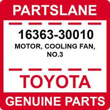 16363-30010 Toyota OEM Genuine MOTOR, COOLING FAN, NO.3